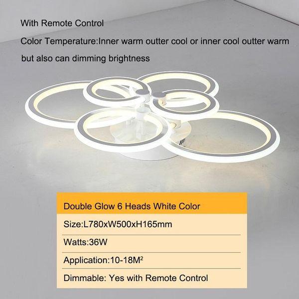 6 cabezas Doble brillo de color blanco regulable