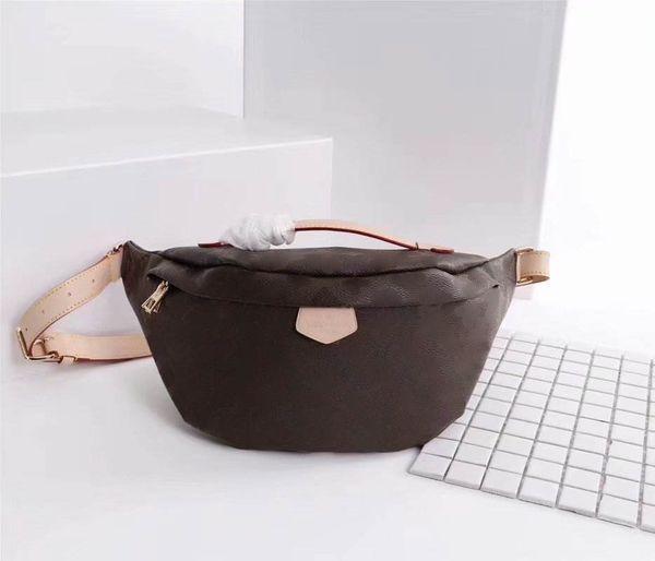 Luxury Material Shoulder Designer FannyPack Bag Autn Bumbag Vintage Bags Chest Bag 43644 Waist Handbags Women Leather Men Waistpacks Tgthx