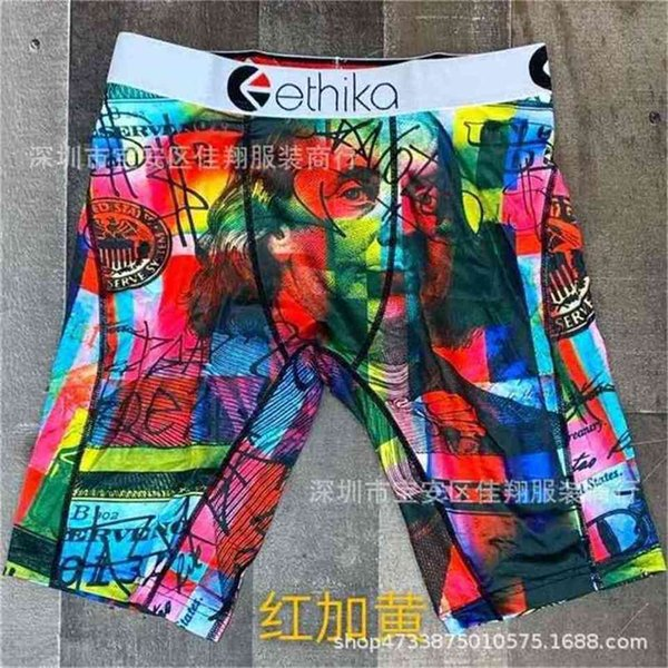 top popular Summer men's swimwear designers boxer brief beach shorts cartoon shark face trunk swimming short pants riding biker quick dry sports leggings swim clothing G4E0ELW 2021