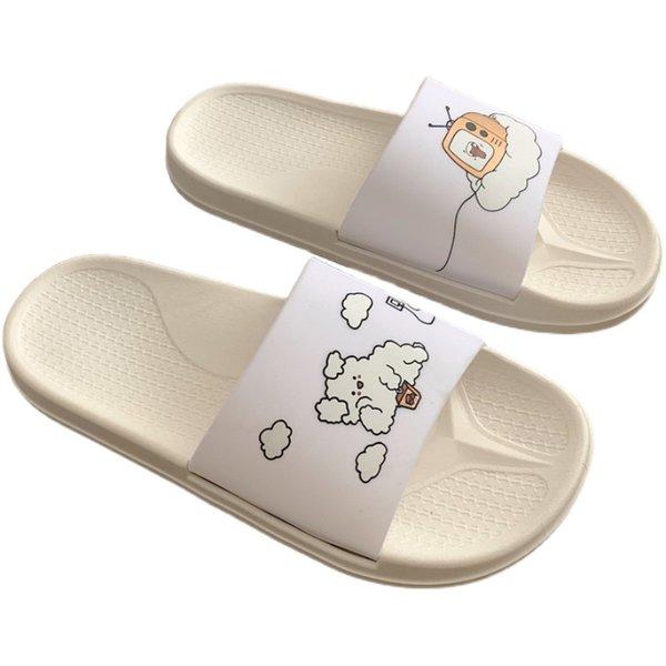2021 Shower Sandal Slippers Quick Drying Bathroom Slippers Super Lovely Catroon House Slippers Slide Outdoor Shoes For Women