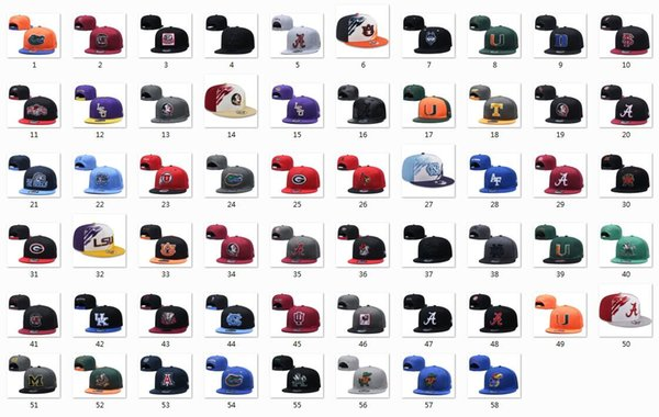 best selling Snapback Hats College Team Caps Mix Match Order All Top Quality Hat Sports Snapbacks Cap