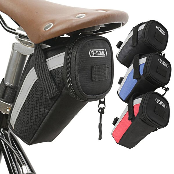 top popular Cycling Bicycle Seat Bag Mountain Bike Saddle Bag Waterproof Expandable Rear Seat Pannier Bicycle Tools Storage ccessories 2021