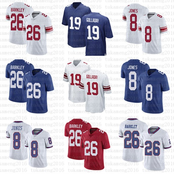 best selling 19 Kenny Golladay 26 Saquon Barkley 8 Daniel Jones American football jersey men's