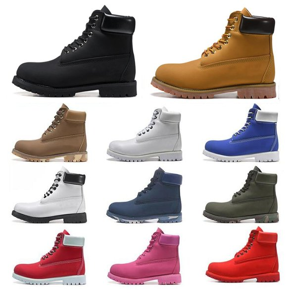 top popular 2021 timber boots designer men women shoes Ankle winter boot for cowboy yellow red black pink hiking work 36-45 2021