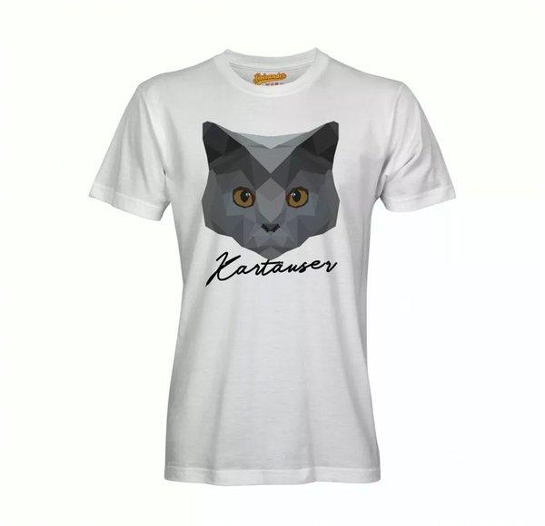 Carthusian T-Shirt Polygon Cat by siviwonder