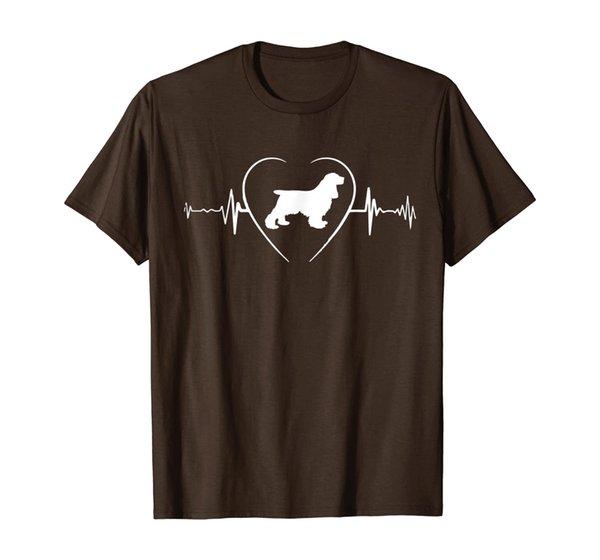 Cocker Spaniel Heartbeat I Love My Cocker Spaniel T-Shirt