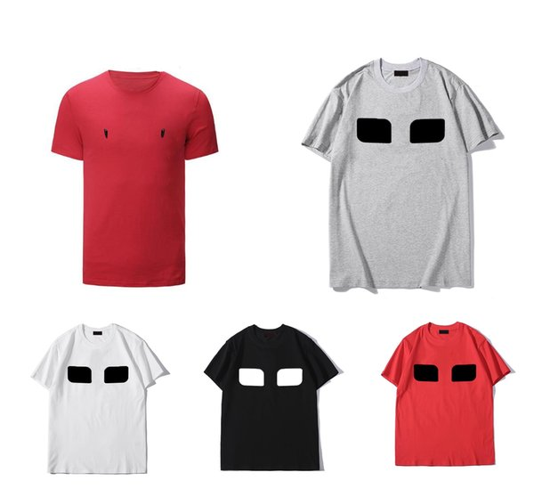 best selling EYES Men's T-shirts Summer Short Sleeves Fashion Printed Tops Casual Outdoor Mens Tees Crew Neck Clothes 21SS 7 Colors M-3XL