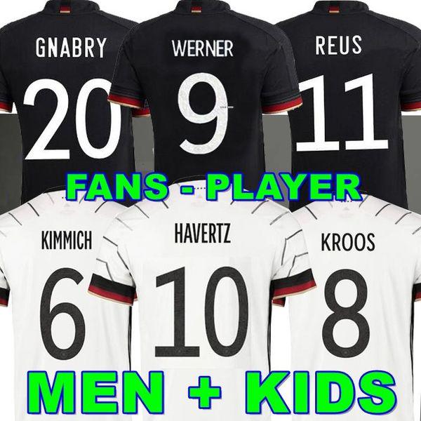 top popular Player version 2020 2021 Germany Soccer Jerseys TAH Gundogan REUS GNABRY WERNER KROOS 20 21 KIMMICH maillot de foot football Sane Goretzka CAN HAVERTZ MEN + KIDS 2021