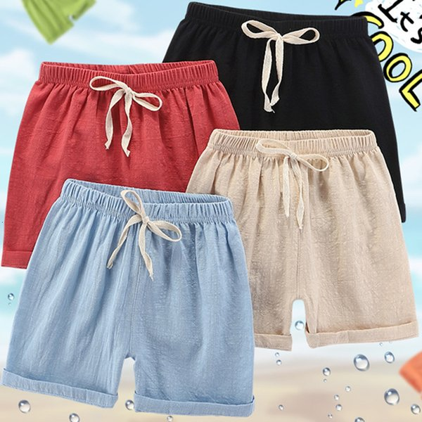 top popular Summer Children's Shorts Thin Men's and Girls' Breathable Casual Capris Baby Beach Pants 2021