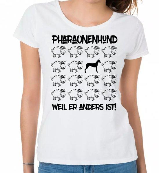 Pharaohs Dog Ladies T-Shirt Black Sheep by siviwonder