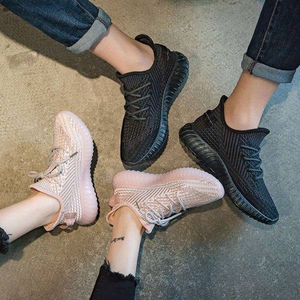 Casual shoes Couple's flying shoes 2021 spring and summer new breathable Student Korean sports men's women's Casual OJUY