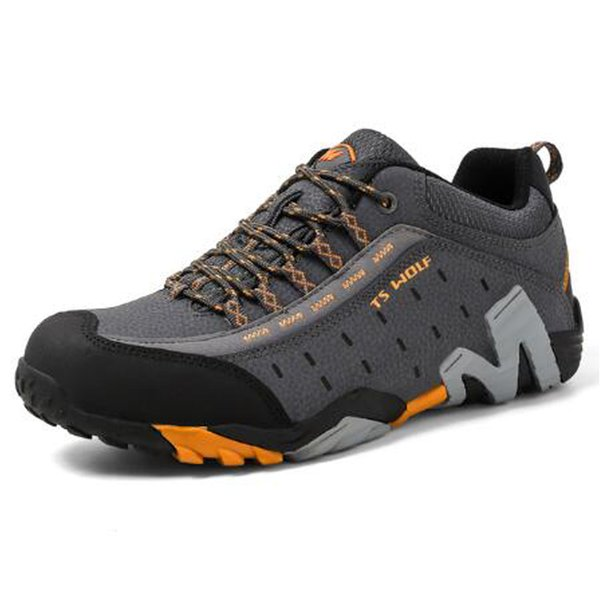 Outdoor couple hiking shoes men's waterproof hiking mountain boots forest hunting leather hiking shoes