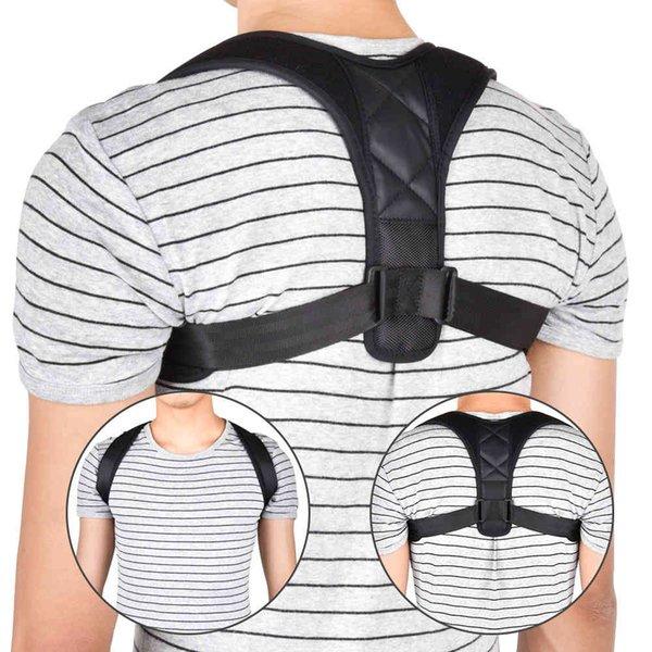top popular Brace Support Belt Adjustable Corrector Clavicle Spine Back Shoulder Lumbar Posture Correction for Adult Children 2021