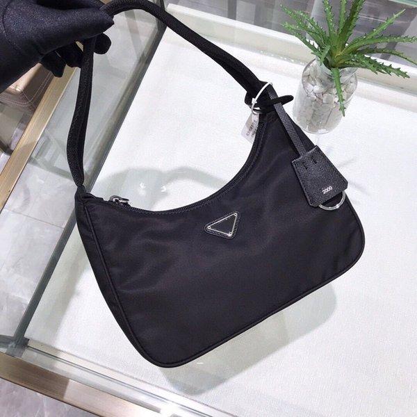 top popular High quality Hobo underarm Shoulder Bags Fashion Parachute fabric Nylon tote Luxury Designer Moon shaped middle bag Women's Crossbody Handbag 2021