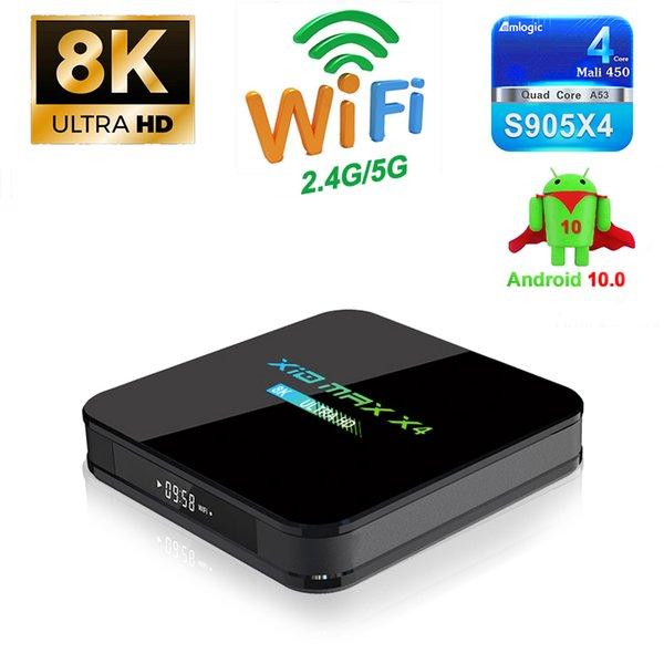 best selling X10 MAX X4 Amlogic S905X4 TV Box Android 10.0 Quad Core 2GB 16GB 4GB 32GB 64GB Dual WiFi Bluetooth
