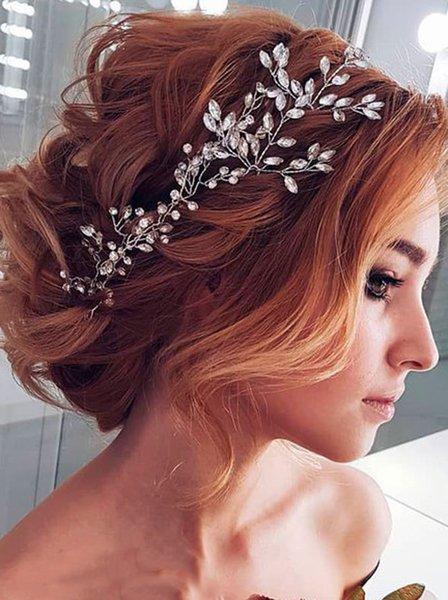 Crystal Bridal Headpiece Hair Clip-Bridal Rhinestone Clip-Brides Headpiece-Silver Wedding Headpiece for Women