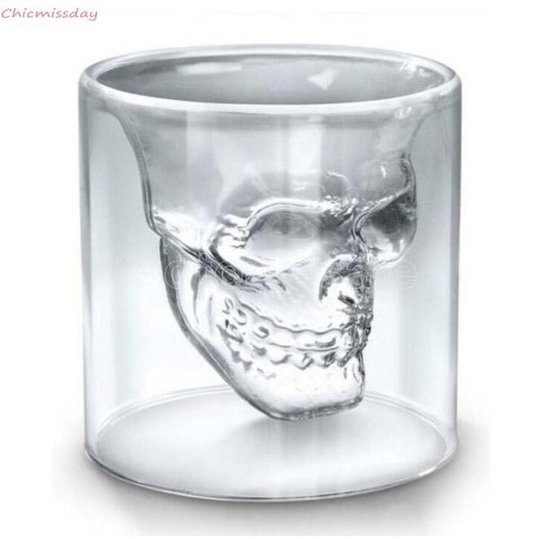 25ML Wine Cup Skull Glass Shot Glass Beer Whiskey Halloween Decoration Creative Party Transparent Drinkware Drinking Glasses 2021 FY4501A