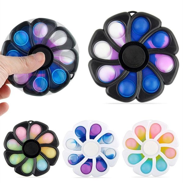 best selling Decompression toy Eight-leaf Flower Finger Gyro Rodent Pioneer Bubble Music Fingertip Toys