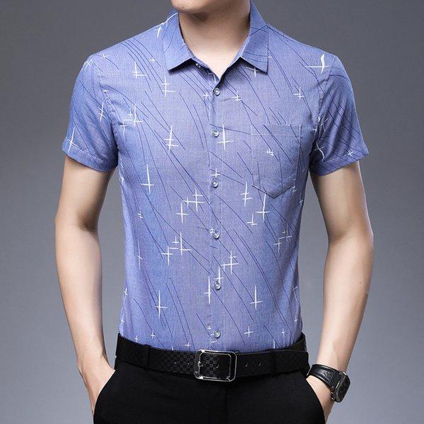 1202 Sleeve courte bleu foncé