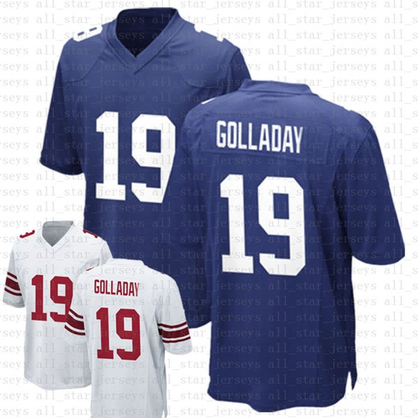top popular 19 Kenny Golladay Football Jerseys 26 Saquon Barkley 8 Daniel Jones 2021 BLUE WHITE Limited 2021