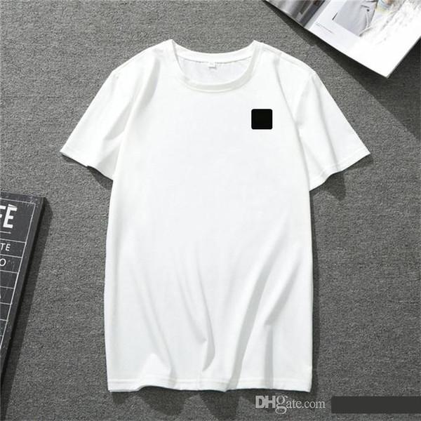 top popular Men's summer T shirt couple style European and American hip-hop casual designer sports short sleeve 100% cotton wholesale size. 2021