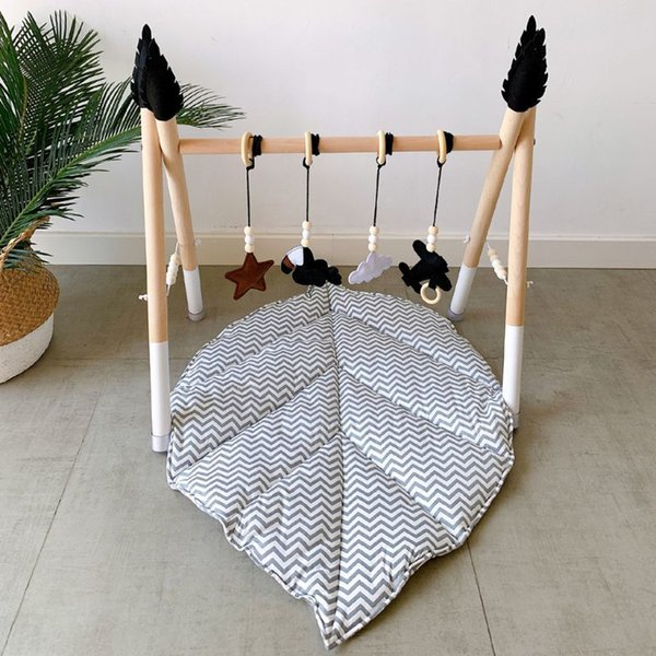best selling 1PC Baby Tree Leaves Shaped Game Playing Blanket Floor Carpet Soft Cotton Climbing Pad Play Mat for Infants Toddlers Room Decor