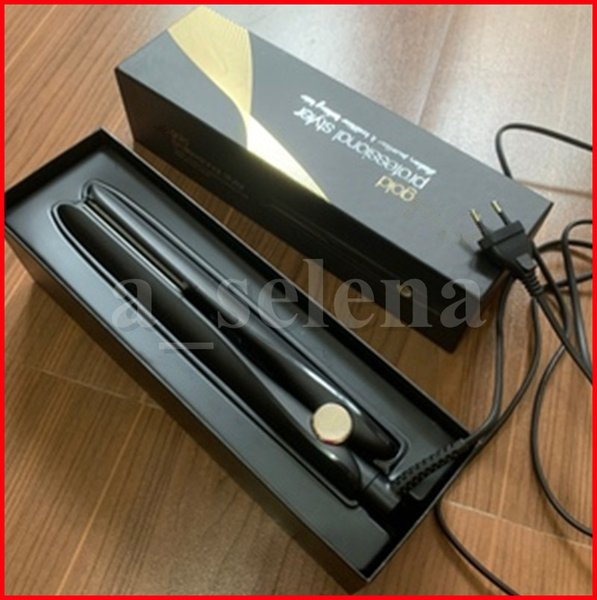 best selling Gold Hair Straightener Ceramic Flat Iron Fast Professional Styler PREMIUM STRAIGHTENERS Styling Tools Black EU plug