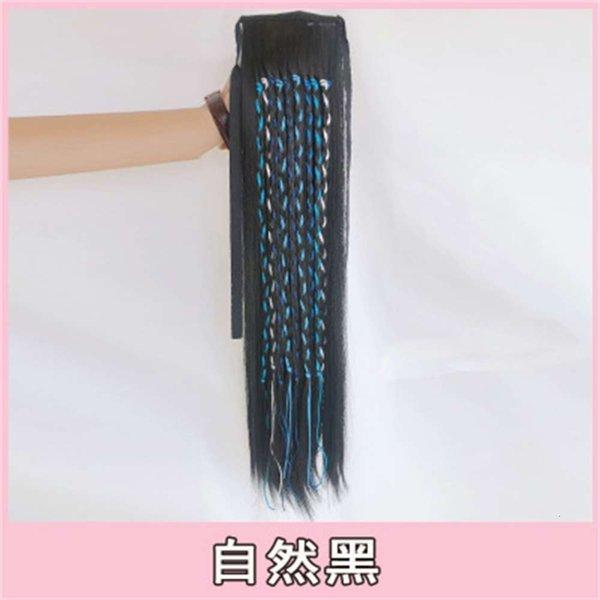 Trenza azul (negro natural)