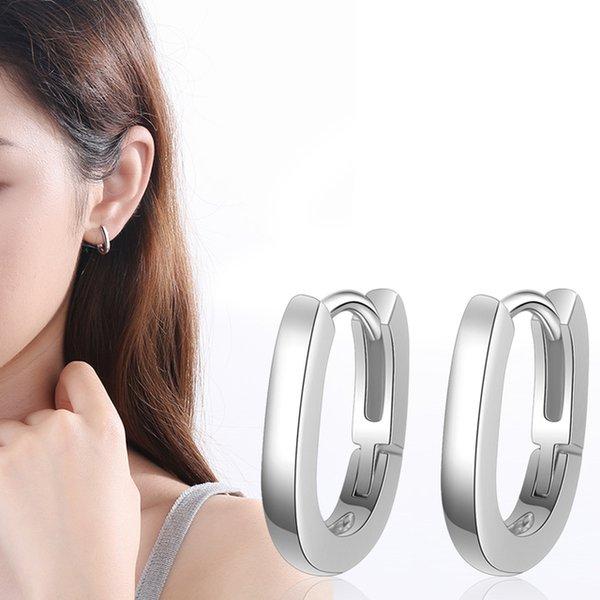 Ohrstecker Neue Mode Silber Farbe Männer Gold Ohrring Geometrische Ohrringe Für Frauen Weibliche Korea Schmuck 2020 oorbellen