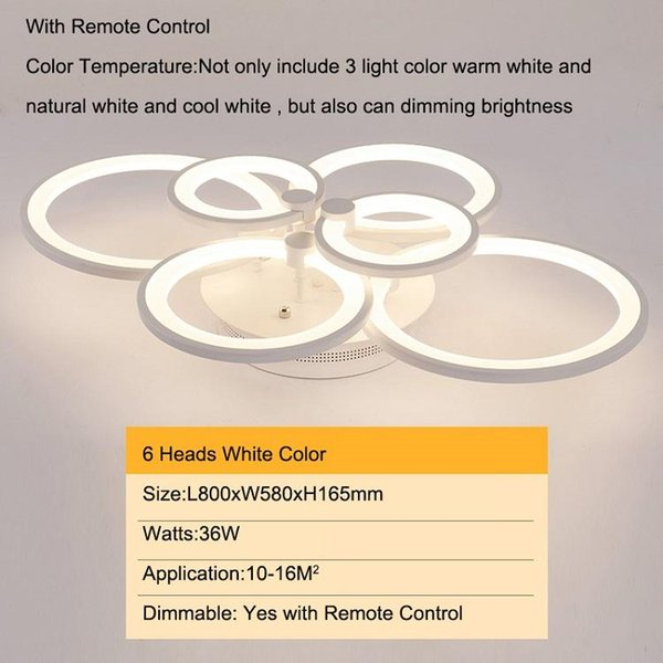 6 cabezas modelo viejo color blanco regulable