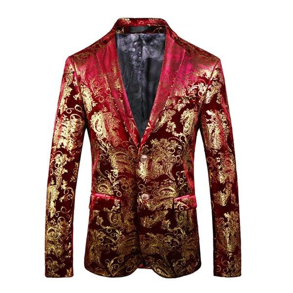 Rojo con oro bordado