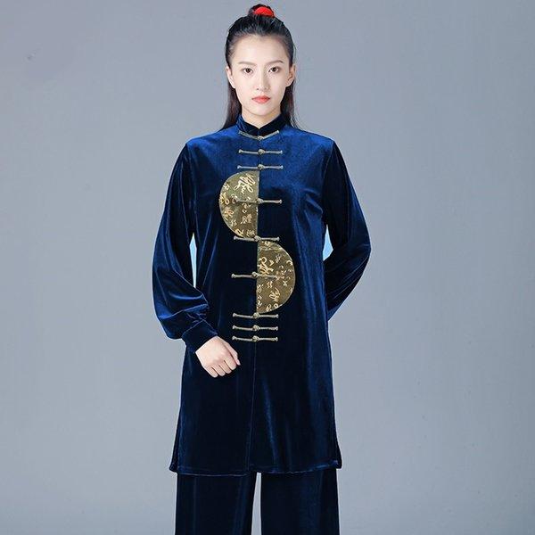 Women Velvet Thickened Warm Tai Chi Clothing Kung Fu Suit Martial Art Uniform Morning Exercise Taiji Wushu Winter Clothing 12434 Apparel Ethnic Clothing DIY Clothing Mens Clothing Womens Clothing