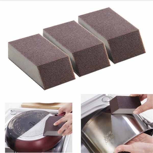 3Pc Slot Corner Sponge Wipe Emery Kitchen Rust Removal Cleaning Brush Bowl Pot Brush Kitchen Utensils Kitchen Accessories Gadget