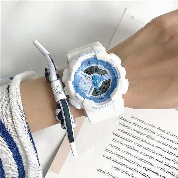 Azul claro blanco