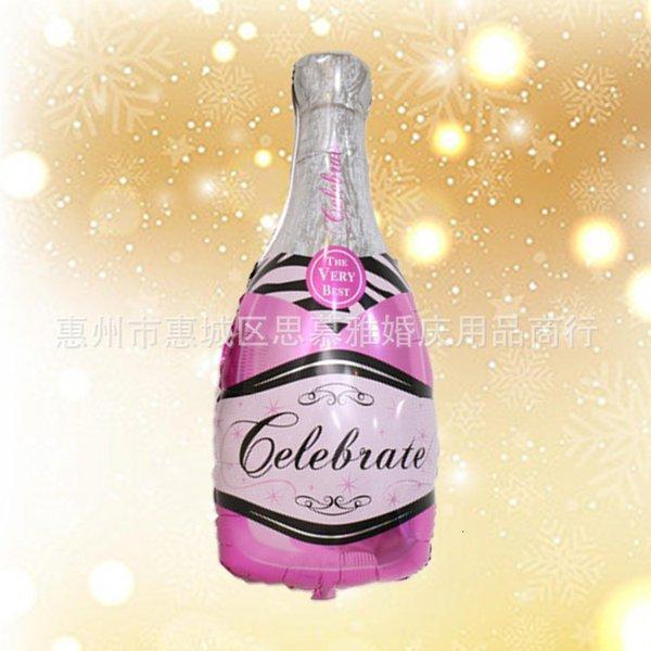Grande nova garrafa de champanhe rosa