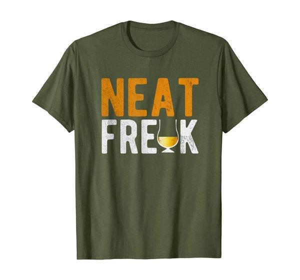 Neat Freak Whiskey Joke | Funny Whiskey Cup T-Shirt