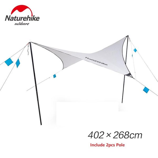 Awning with pole