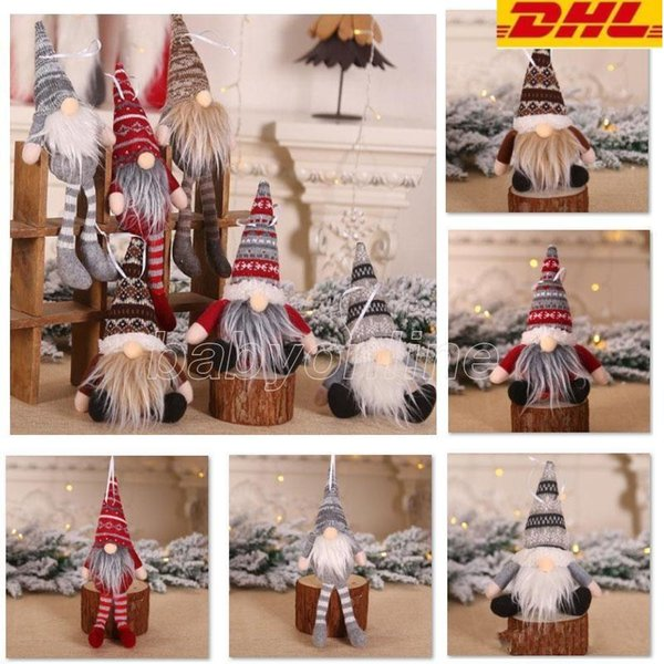 best selling Party Christmas Decoration Ornaments Knitted Plush Gnome Doll Home Decor Wall Hanging Pendant Holiday Party Kids Doll Gifts