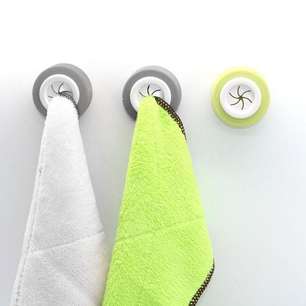 top popular Towel Hanger Kitchen Storage Hook Plug Rack Clothes Wall Mounted Bathroom Tool Rings 2021