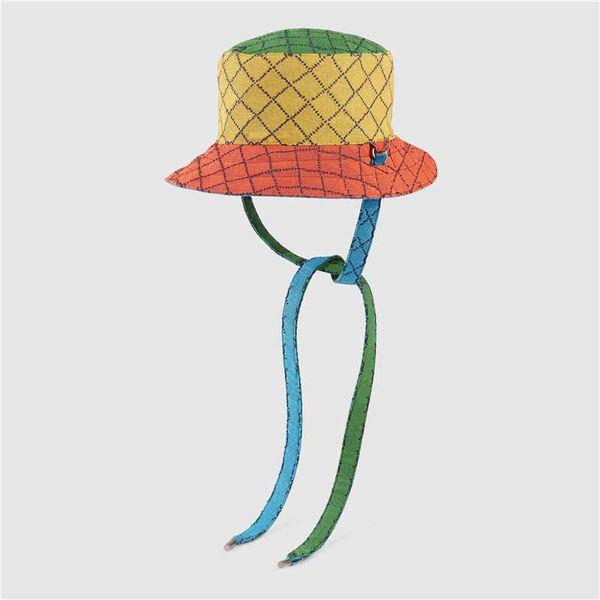 Women Multicolour Reversible Bucket Hat Mens Designers Bucket Hats 2021 Fashion Designers Caps Hats Mens Casquette