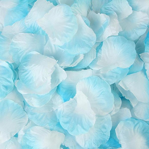 Azul claro y blanco