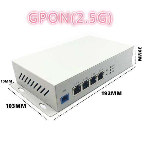 top popular Metal enclosure outdoor industrial grade ONU 1GE+3FE ONU GPON 2.5G with FTTH NETWORK onu wifi modem 10 100 1000M RJ45 FOR OLT 2021