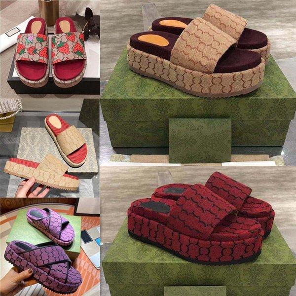 best selling Fashion G Mens Womens Sandals Slippers Slide Designer Luxury Flat High Heels Flip Flops Shoes Embroidered Platform Rubber Sandal Leather Shoal Casual Shoe 34-44