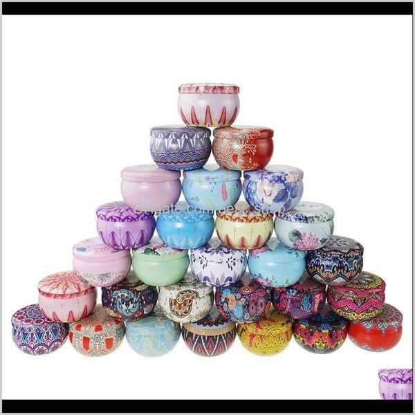 best selling Merry Christmas Pattern Metal Box Circular Aromatherapy Candle Jar Scented Tea Candy Packing Makou Iron Case 1 6Tb J2 Rc6Qn Candles 1Gmxz