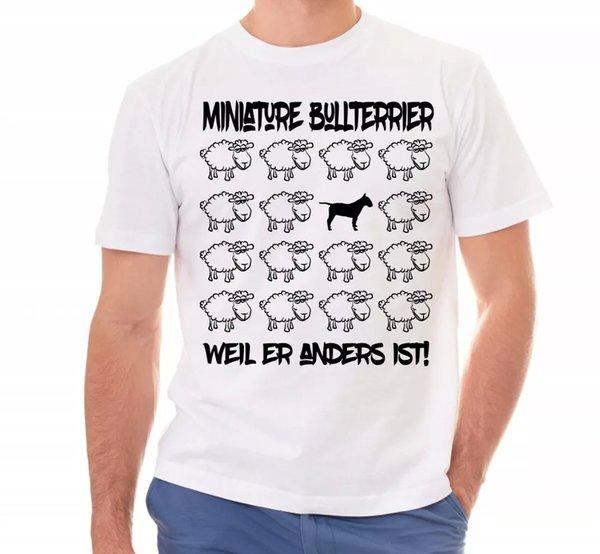Miniature Bull Terrier Unisex T-Shirt Black Sheep Men Dog Dogs Motif Bully