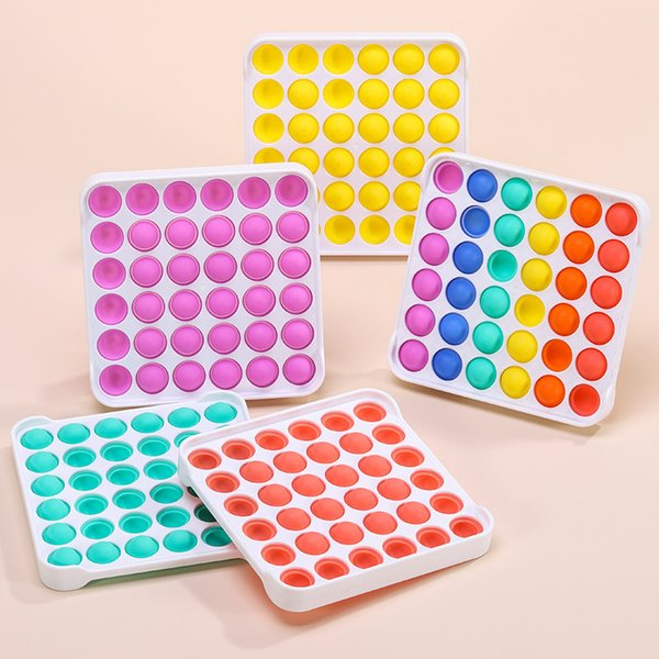 best selling DHL The latests Multicolor Pop It Fidget Sensory Pushs Toys Bubble Board Game Anxiety Stress Reliever Kids Adults Autism Special Needs