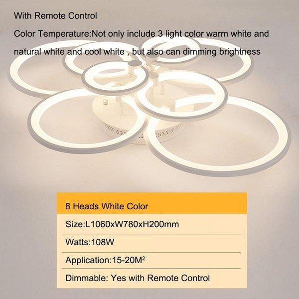 8 cabezas modelo antiguo color blanco regulable