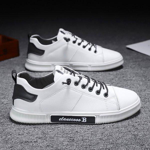 Sneakers men shoes man footwear 2021 fashion lace-up casual shoes men sneakers breathable Lace Up PU Leather Men sport low Shoes