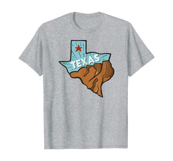 Texas State Gift Souvenir   Texas State Outline T-Shirt
