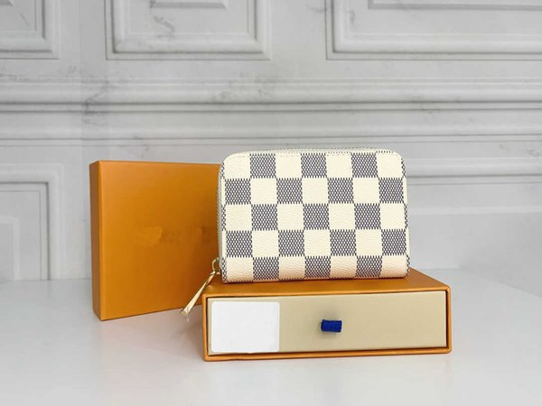 best selling Female cardholder male holder cardholderr credit card and folding wallet stylish classic checkered wallety quality leather money bags zipper
